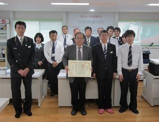 JR東日本仙台支社様より感謝状を拝受いたしました